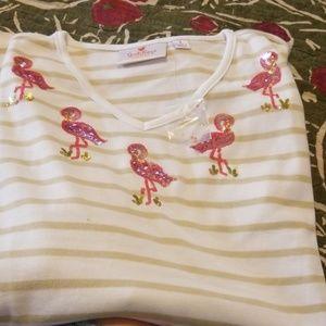 Quacker Factory Flamingo Shirt